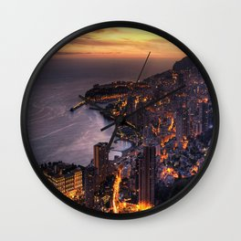 Sunset Loving wiTH town Wall Clock