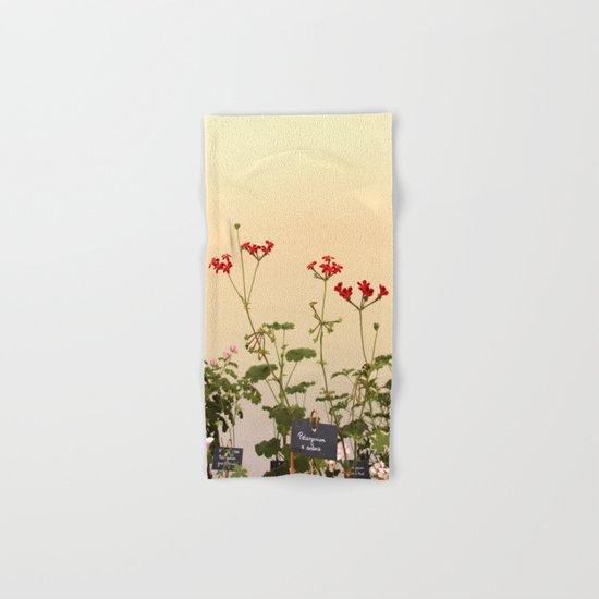 Geraniums (Pelargonium) #6 Hand & Bath Towel