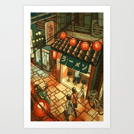 Ramen in the Alley Kunstdrucke