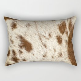 Pattern of a Longhorn bull cowhide. Rectangular Pillow