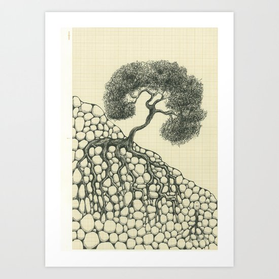 Artificial tree N.12 Art Print
