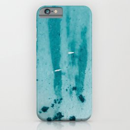 Paddling in the Ocean II | Clear Blue Water | Aerial Photography | Travel Photography | iPhone Case