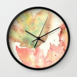 Fall Leaves 2016 Wall Clock