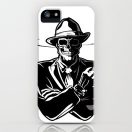 gangster skull. iPhone Case