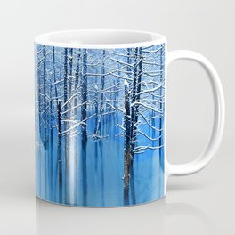 Winter Trees Glazed in Ice Reflecting in Pond Coffee Mug