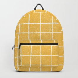 White pencil grid in yellow Backpack