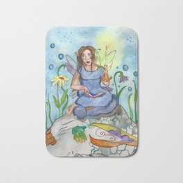Last Candle (Fairy and the Dragon) Bath Mat