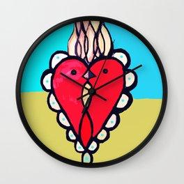 Pajaros y Corazónes Wall Clock