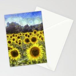 Sunflower Fields Of Dreams Art Stationery Cards