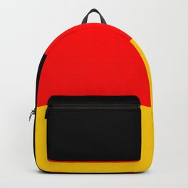 Black Red and Yellow German Flag Backpack