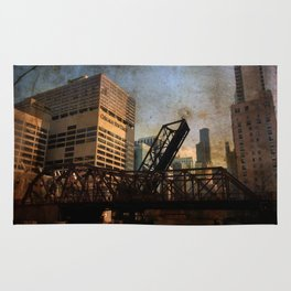 Chicago Skyline Chicago River Drawbridge Rug