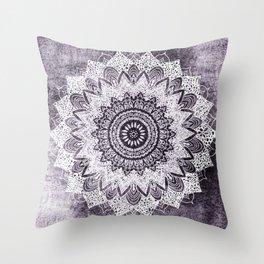 BOHOCHIC MANDALA IN PURPLE Throw Pillow