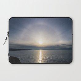 Halo over ice of lake Baikal Laptop Sleeve