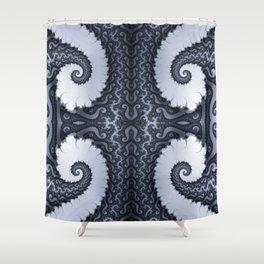 Fractal Art - Glacier I Shower Curtain