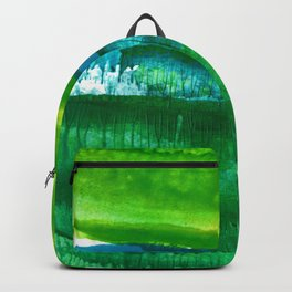 Encaustic Abstract No.27N by Kathy Morton Stanion Backpack