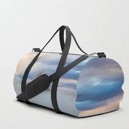 Adrift - Lone Tree In White Sands New Mexico Duffle Bag