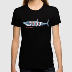 Sushi Mako (color option) Womens Fitted Tee Black X-LARGE
