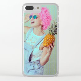 Trendy funky girl Clear iPhone Case