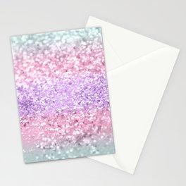 Unicorn Girls Glitter #8 #shiny #pastel #decor #art #society6 Stationery Cards