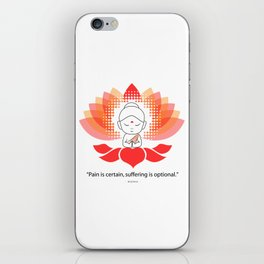 Buddha saying Namaste while sitting on a sacred lotus. iPhone Skin