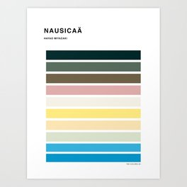 The colors of - Nausicaa Art Print
