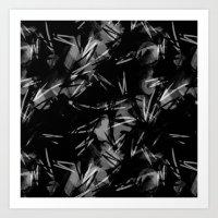 noir Art Prints featuring Noir by Raluca Ag