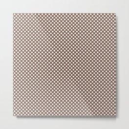 Aztec and White Polka Dots Metal Print