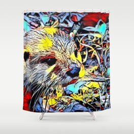 Color Kick - Otter Shower Curtain