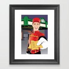 Tampa Theater Movie Usher Framed Art Print