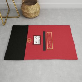 Red Post Box Rug