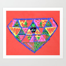 đeyemond vi§ion Art Print