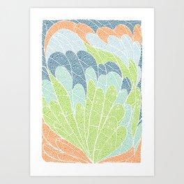 waving leaves Art Print