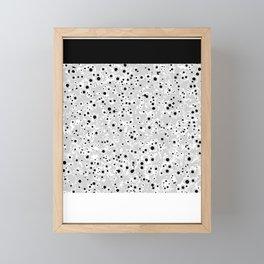 black spots Framed Mini Art Print
