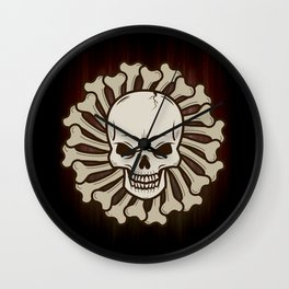 Angry skull Wall Clock