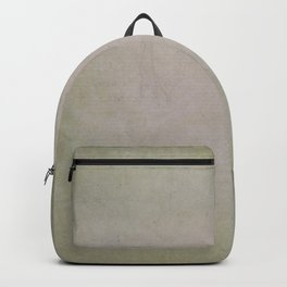 Grunge distressed pastel green and grey Backpack
