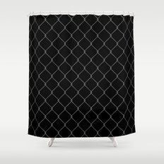 Wire Fence Shower Curtain
