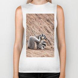 Ring-tailed lemur Biker Tank