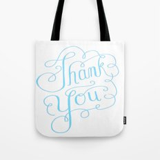 Thank you Hand Lettered Calligraphy Tote Bag