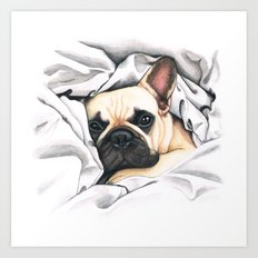 French Bulldog - F.I.P. - Miuda Frenchie Art Print