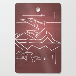 Come Holy Spirit christian illustration Cutting Board