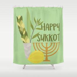 Sukkot Shalom Best Wishes for the Sukkot Holiday Shower Curtain