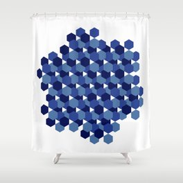 Hexagons Shower Curtain