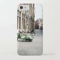 motorbike iPhone & iPod Cases featuring Motorbike by AU Designs Studio