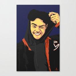 Noah Centineo Vector Portrait Canvas Print