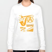 jazz Long Sleeve T-shirts featuring Jazz by Veronica S