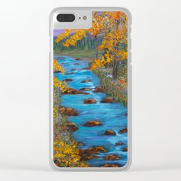 River of Change Clear iPhone Case