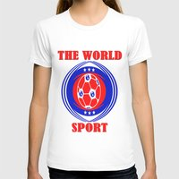 soccer T-shirts featuring SOCCER  by Robleedesigns