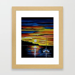 Escape To The Sea Framed Art Print