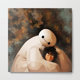 Baymax Love Metal Print