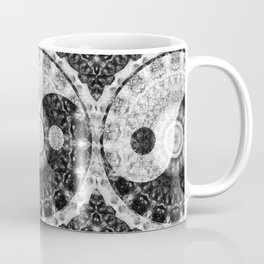 Ideal Balance Black And White Yin and Yang by Sharon Cummings Coffee Mug